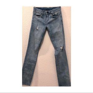 blanknyc distressed straight-leg jeans